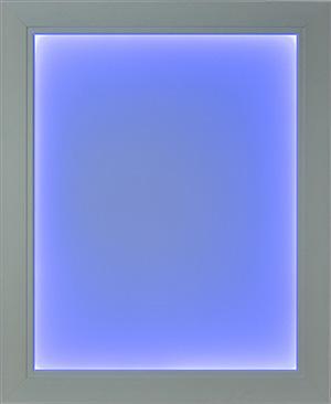 White Illuminapp Frame Lit in Blue