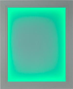 White Illuminapp Frame Lit in Green