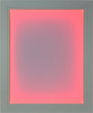 White Illuminapp Frame Lit in Red