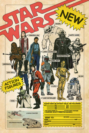 Star Wars Action Figures Poster
