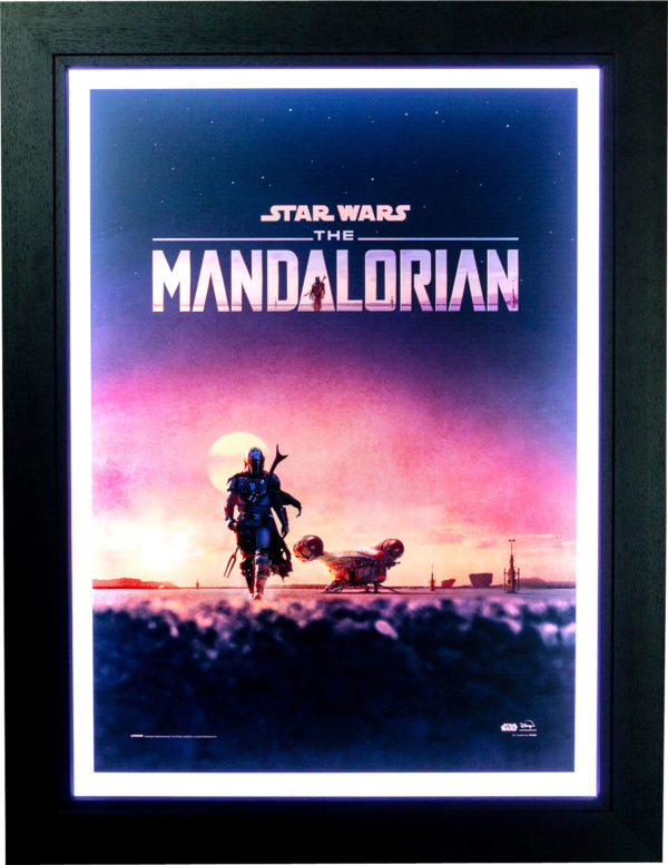 Star Wars: The Mandalorian at Dusk Poster