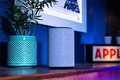 Amazon Alexa in front of Star Wars Illuminapp
